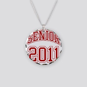 Senior of 2011 red Necklace Circle Charm