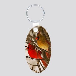 cardinals2poster Aluminum Oval Keychain