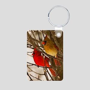 cardinals2poster Aluminum Photo Keychain