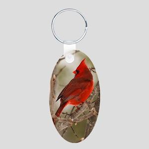 cardinal1pster Aluminum Oval Keychain