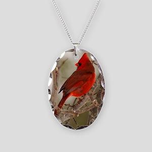 cardinal1pster Necklace Oval Charm