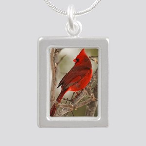 cardinal1pster Silver Portrait Necklace