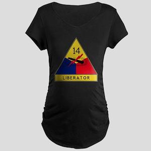 14th Armored Division - Lib Maternity Dark T-Shirt