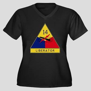 14th Armored Women's Plus Size Dark V-Neck T-Shirt