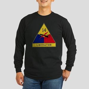 14th Armored Division - L Long Sleeve Dark T-Shirt