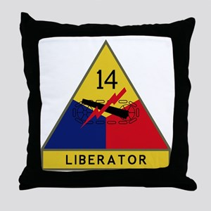 14th Armored Division - Liberators Throw Pillow