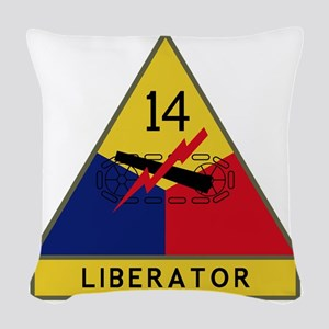 14th Armored Division - Libera Woven Throw Pillow