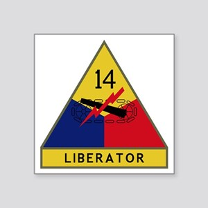 "14th Armored Division - Lib Square Sticker 3"" x 3"""