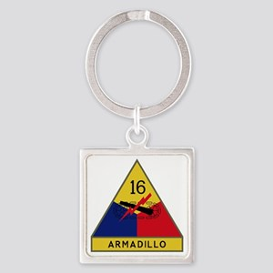 16th Armored Division - Armadillo Square Keychain