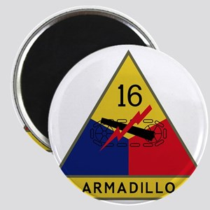 16th Armored Division - Armadillo Magnet