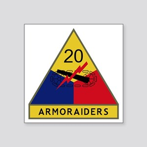 "20th Armored Division - Arm Square Sticker 3"" x 3"""