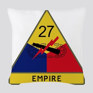 27th Armored Division - Empire Woven Throw Pillow
