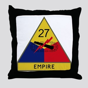 27th Armored Division - Empire Throw Pillow