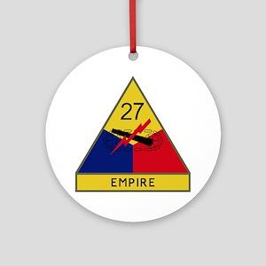 27th Armored Division - Empire Round Ornament