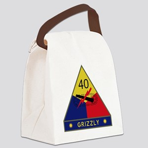 40th Armored Division - Grizzly Canvas Lunch Bag