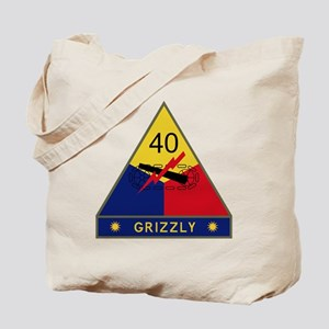 40th Armored Division - Grizzly Tote Bag