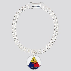 40th Armored Division -  Charm Bracelet, One Charm