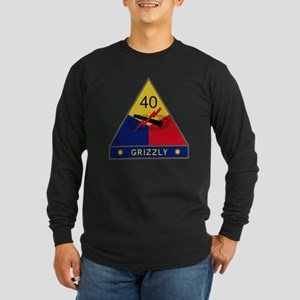 40th Armored Division - G Long Sleeve Dark T-Shirt