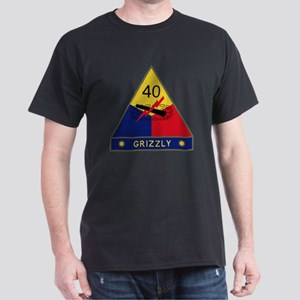 40th Armored Division - Grizzly Dark T-Shirt
