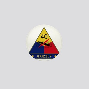 40th Armored Division - Grizzly Mini Button