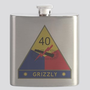 40th Armored Division - Grizzly Flask