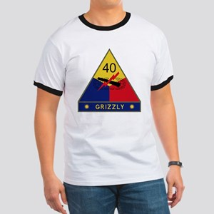 40th Armored Division - Grizzly Ringer T