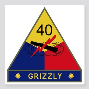 "40th Armored Division -  Square Car Magnet 3"" x 3"""