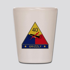 40th Armored Division - Grizzly Shot Glass