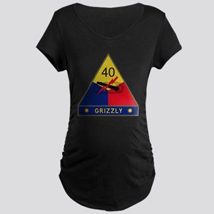 40th Armored Division - Gri Maternity Dark T-Shirt