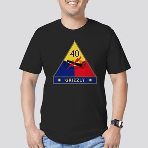 40th Armored Division  Men's Fitted T-Shirt (dark)