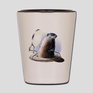 Bad Groundhog Shot Glass