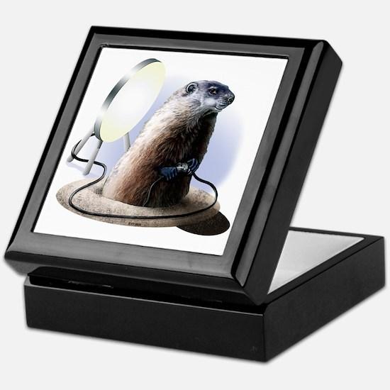 Bad Groundhog Keepsake Box