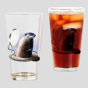 Bad Groundhog Drinking Glass