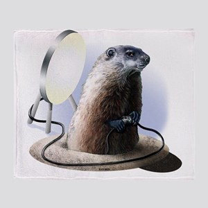 Bad Groundhog Throw Blanket