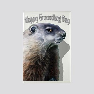 Happy Groundhog Day Rectangle Magnet