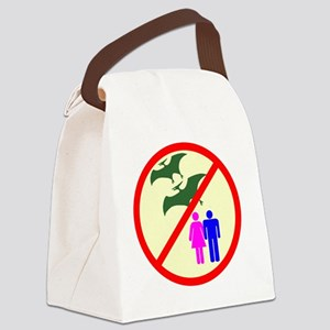 man and woman dinosaur shirt5 Canvas Lunch Bag