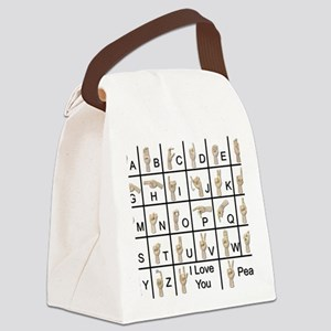 AmeslanAlphabet120710 Canvas Lunch Bag