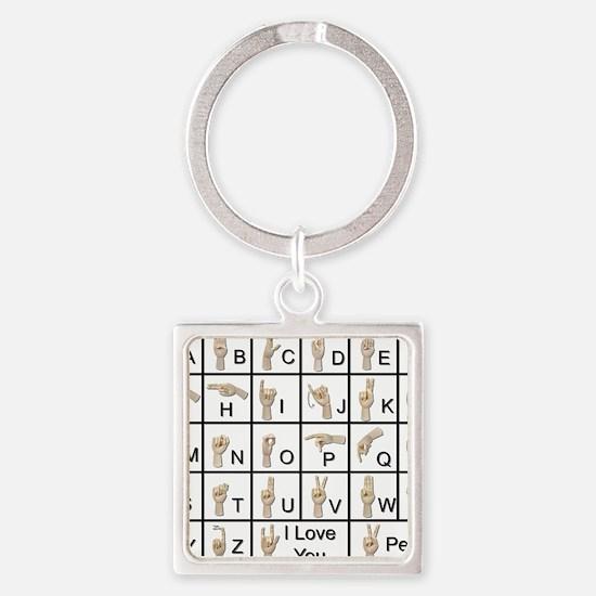 AmeslanAlphabet120710 Square Keychain