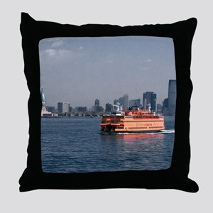 (2) Staten Island Ferry Throw Pillow