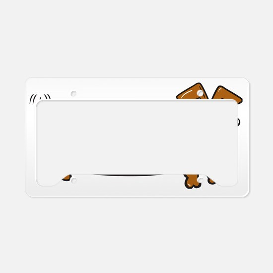 Doxie-1 License Plate Holder