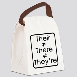 TheirThereTheyre Canvas Lunch Bag