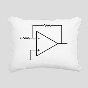 op amp 3 Rectangular Canvas Pillow