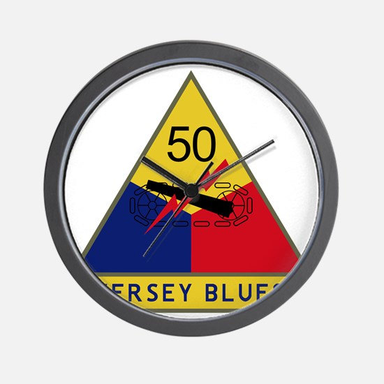50th Armored Division - Jersey Blues Wall Clock