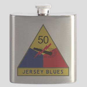 50th Armored Division - Jersey Blues Flask