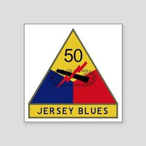 "50th Armored Division - Jer Square Sticker 3"" x 3"""