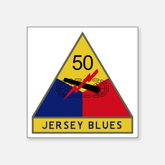"""50th Armored Division - Jer Square Sticker 3"""" x 3"""""""