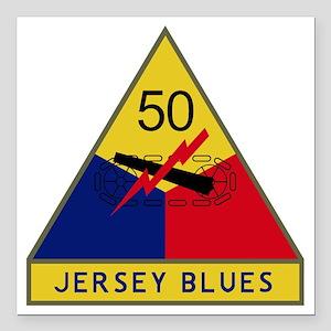 "50th Armored Division -  Square Car Magnet 3"" x 3"""