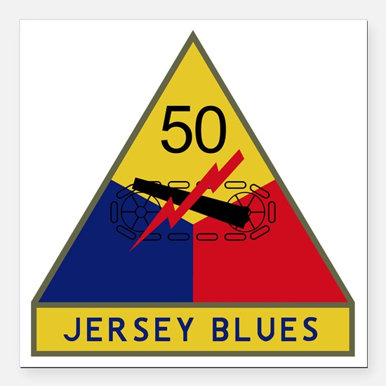 "50th Armored Division -  Square Car Magnet 3"" x 3"""