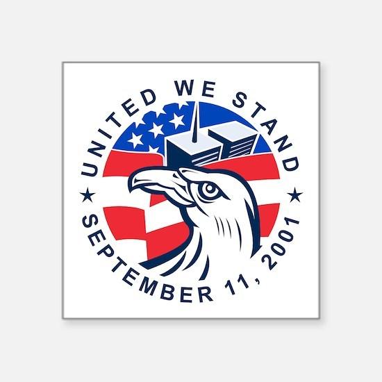"""9-11 Eagle Head World Trade Square Sticker 3"""" x 3"""""""