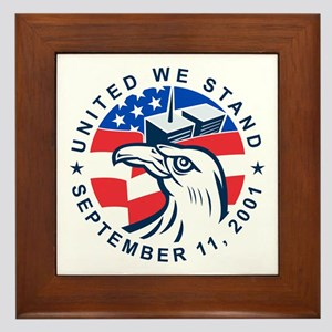 9-11 Eagle Head World Trade Center Ame Framed Tile